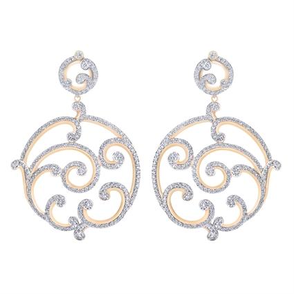 Rose Gold Diamond Grand Earrings   Fabergé