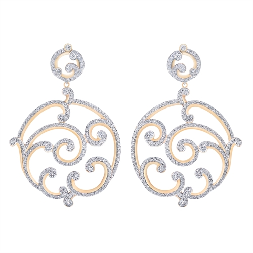 Rose Gold Diamond Grand Earrings | Fabergé