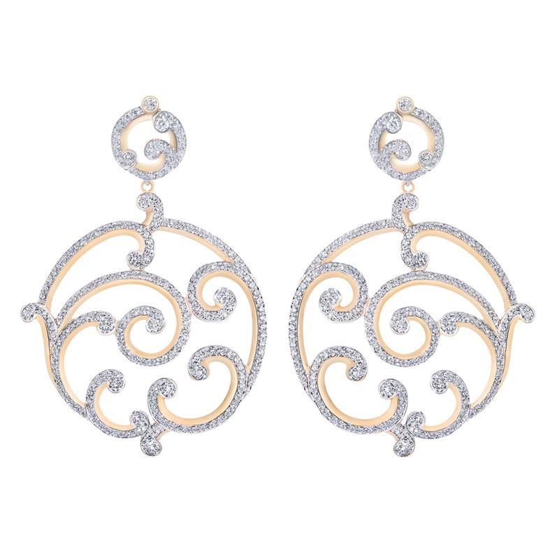 Rose Gold Diamond Grand Earrings | Fabergé