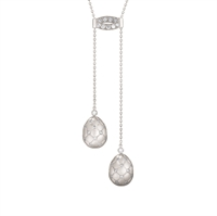 Treillage Diamond White Gold Matt Necklace