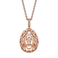 Fabergé Egg Pendant - Impératrice Diamond Rose Gold Pendant