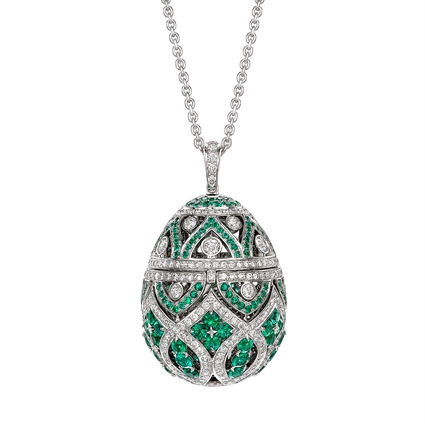 Faberge Egg Pendant – Zenya Emerald Egg Pendant