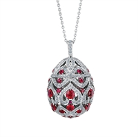 Faberg imperial collection faberg faberge egg pendant zenya ruby egg pendant aloadofball Images