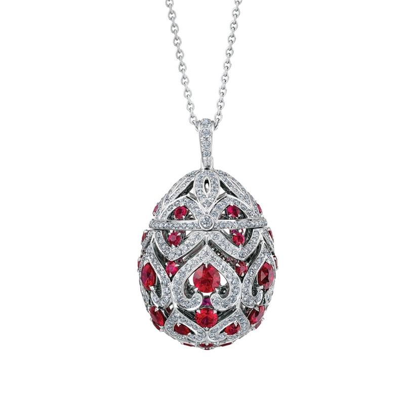 Faberge Egg Pendant – Zenya Ruby Egg Pendant