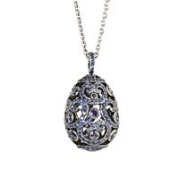 Faberge Egg Pendant - Impératrice Sapphire Pendant