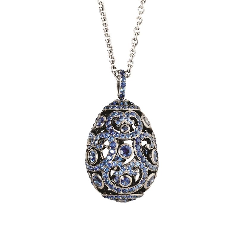 Fine jewellery egg pendants faberg egg pendants faberg faberge egg pendant impratrice sapphire pendant aloadofball Choice Image