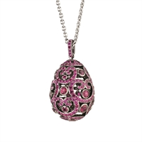 Faberge Egg Pendant - Impératrice Ruby Pendant