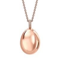 Fabergé Egg Pendant - Simple Rose Gold Pendant