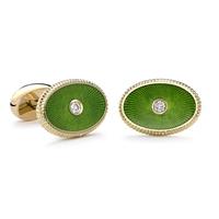 Dark Green Cufflinks - Fabergé  Boris Cufflinks
