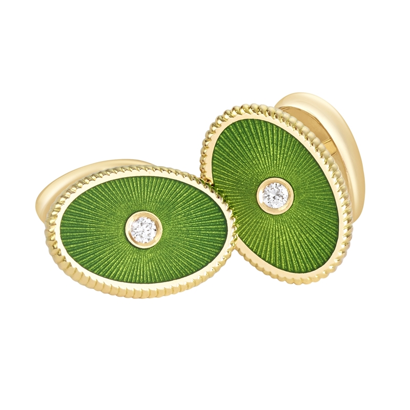 Dark Green Cufflinks - Fabergé  Boris Cufflinks