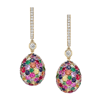 Fabergé Egg Earrings - Emotion Multi-Coloured Earrings