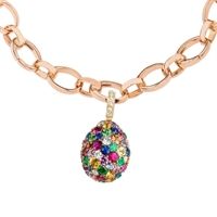 Fabergé Egg Charm - Emotion Multi-Coloured Charm