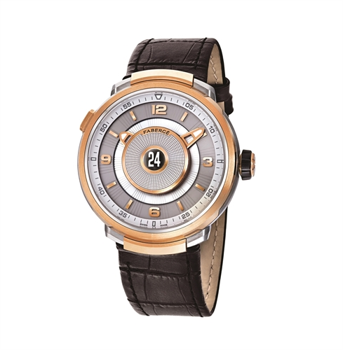 Fabergé Visionnaire DTZ Brown & 18K Rose Gold Men's Watch