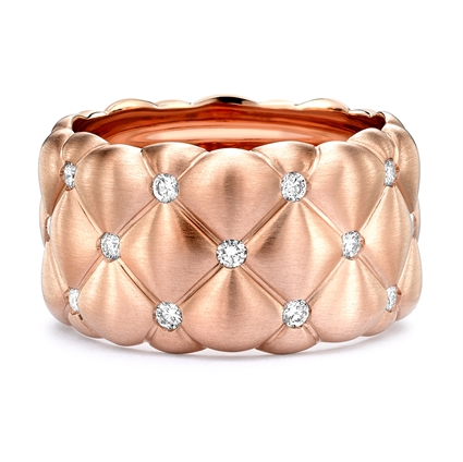 Rose Gold & Diamond Set Grand Ring | Fabergé