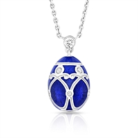 Simple Royal Blue Small Yelagin Pendant - Fabergé Egg Pendant