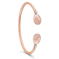 Rose Gold and Diamond Bangle - Fabergé Palais Tsarskoye Selo Rose Open-Set Bangle