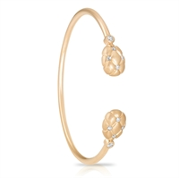 Yellow Gold and Diamond Bangle - Fabergé Treillage Diamond Rose Gold Open-Set Bangle