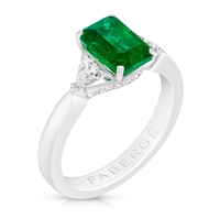 Emerald Step Cut Ring - Fabergé Emerald Step Cut Ring