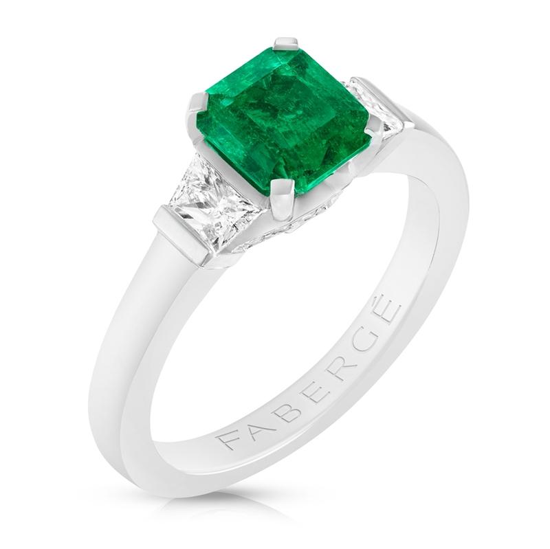 Emerald Step Cut Ring - Fabergé Emerald Step Cut Ring