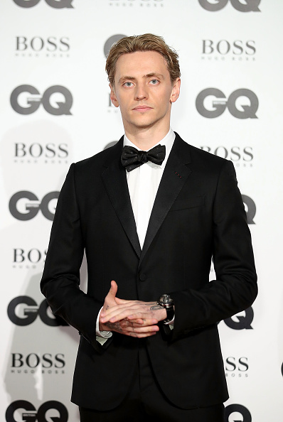 Sergei Polunin at the GQ men of the year awards 2017 wearing Faberge Visionnaire DTZ Timepiece.