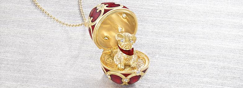 Fabergé Dog Pendant