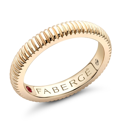 Yellow Gold Fluted Ring | Fabergé