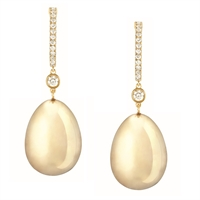 Simple Yellow Gold Earrings