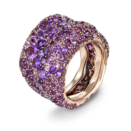 Rose Gold Amethyst Grand Ring | Fabergé