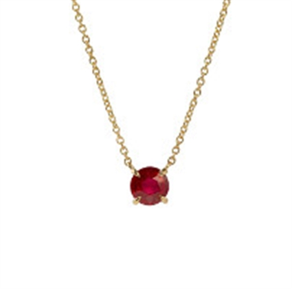 Yellow Gold Ruby Chevron Pendant | Fabergé