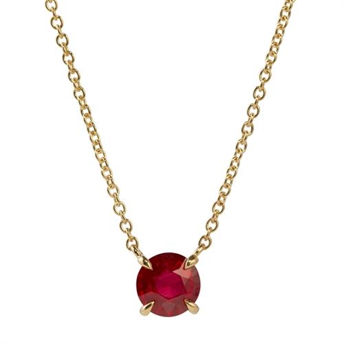 Yellow Gold Ruby Chevron Pendant | Fabergé