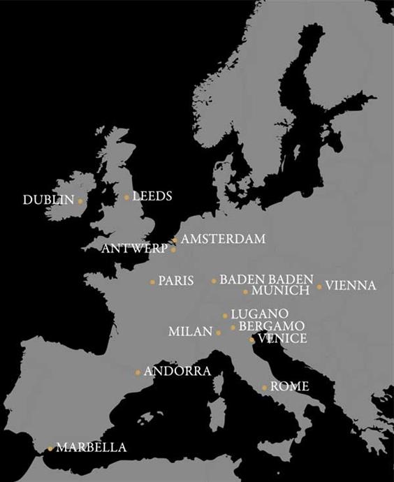 Find Fabergé in Europe