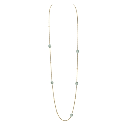 18K Yellow Gold Necklace with Turquoise Enamel from Fabergé