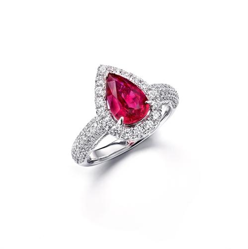 Rubin Halo Dress Ring