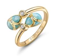 Fabergé Palais Tsarskoye Selo Turquoise Crossover Ring