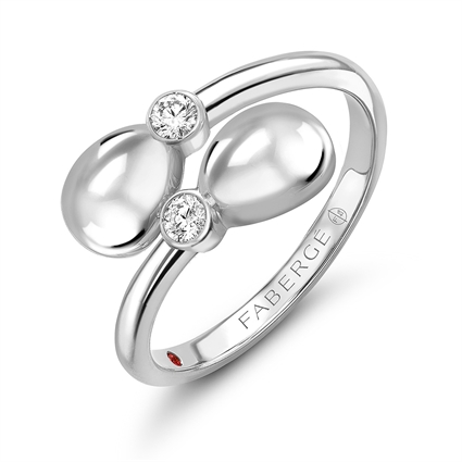 White Gold Crossover Ring | Fabergé