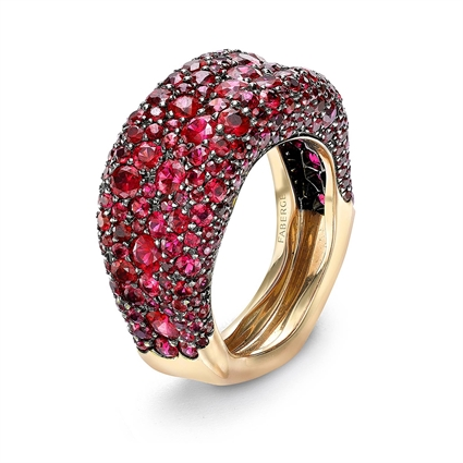 Yellow Gold Ruby Petite Ring | Fabergé