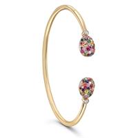 Gold and Gemstone Bangle Bracelet - Fabergé Emotion Multi-Coloured Open-Set Bangle