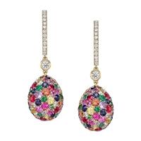 Fabergé Egg Earrings - Emotion Multi-Coloured Earrings
