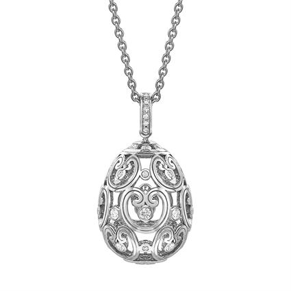 Fabergé Egg Pendant - Impératrice Diamond White Gold Pendant