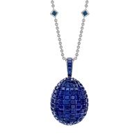 Mosaic Sapphire Pendant