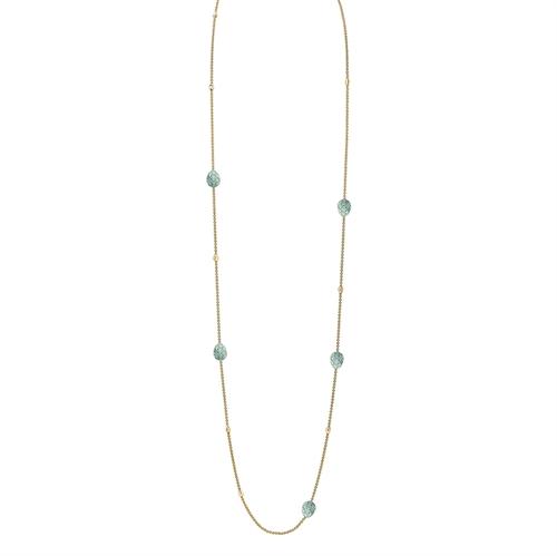 Yellow Gold Diamond & Turquoise Guilloché Enamel Sautoir Necklace | Fabergé