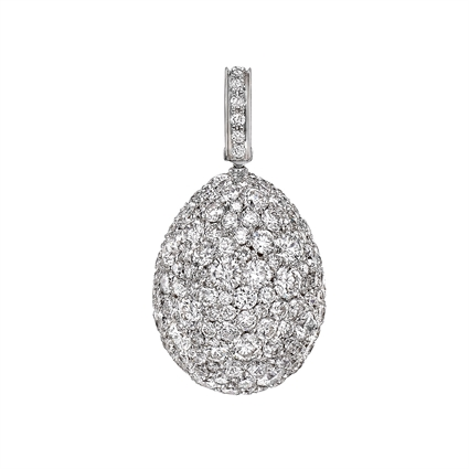 Fabergé Egg Charm - Emotion White Diamond Charm