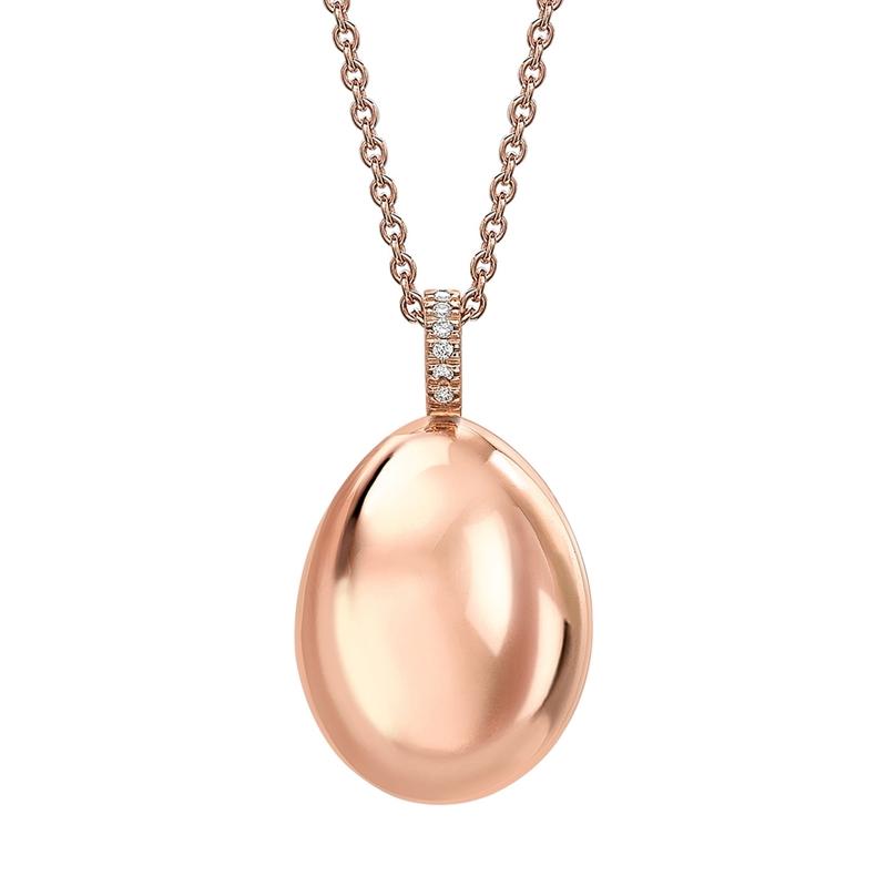 Fabergé Egg Pendant - Simple Rose Gold Pendant
