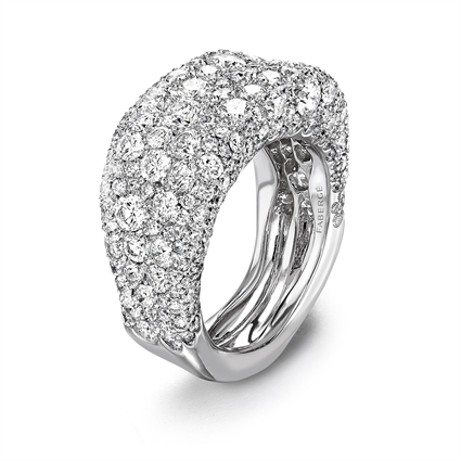 White Gold Diamond Petite Ring | Fabergé
