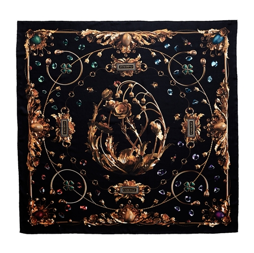 Fabergé Gary James McQueen Silk Scarf