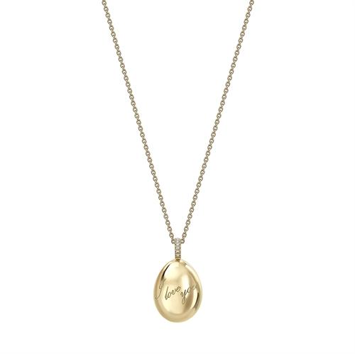 Yellow Gold I Love You Egg Pendant | Fabergé