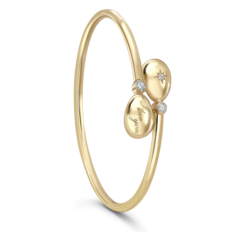 Yellow Gold I Love You Crossover Bracelet | Fabergé