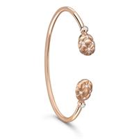 White Diamond & 18K Rose Gold Open-Set Bangle | Fabergé