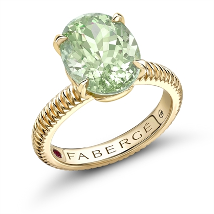 Yellow Gold Tourmaline Fluted Ring | Fabergé