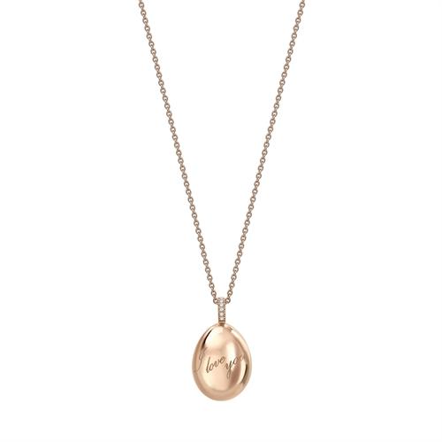 Rose Gold I Love You Egg Pendant | Fabergé